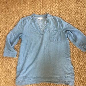Chambray type tunic